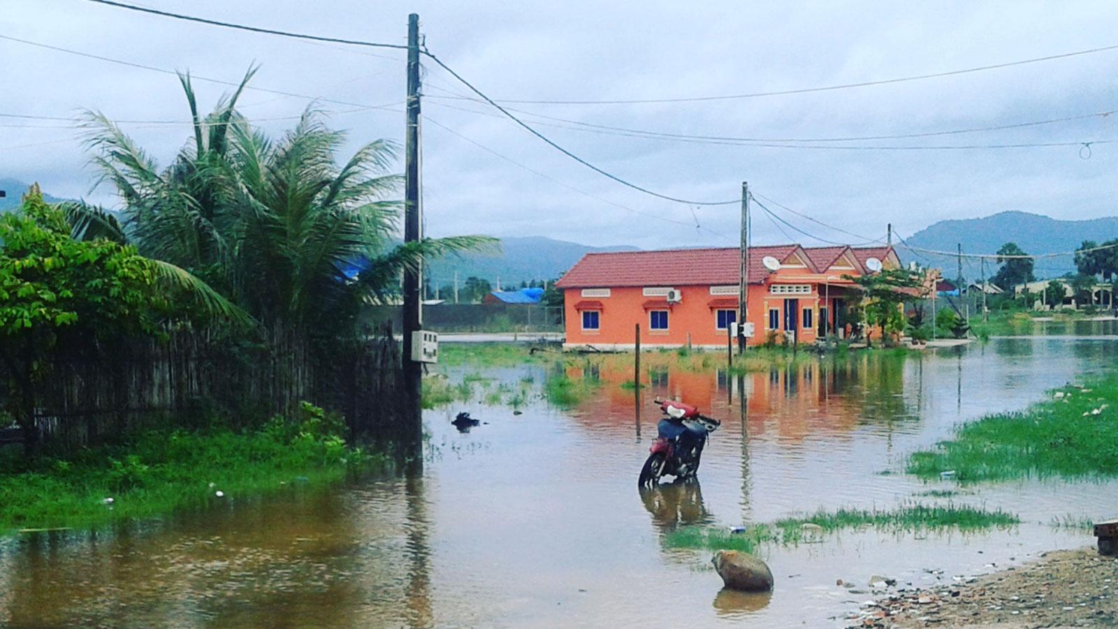 Überflutung in Kampot