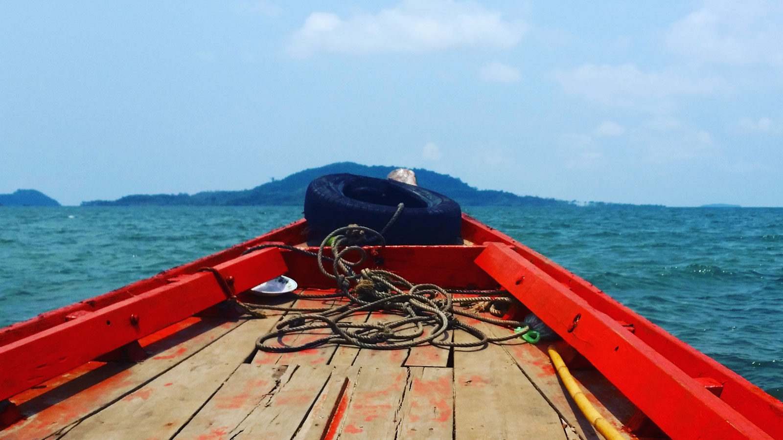 Boot nach Rabbit Island bei Kep