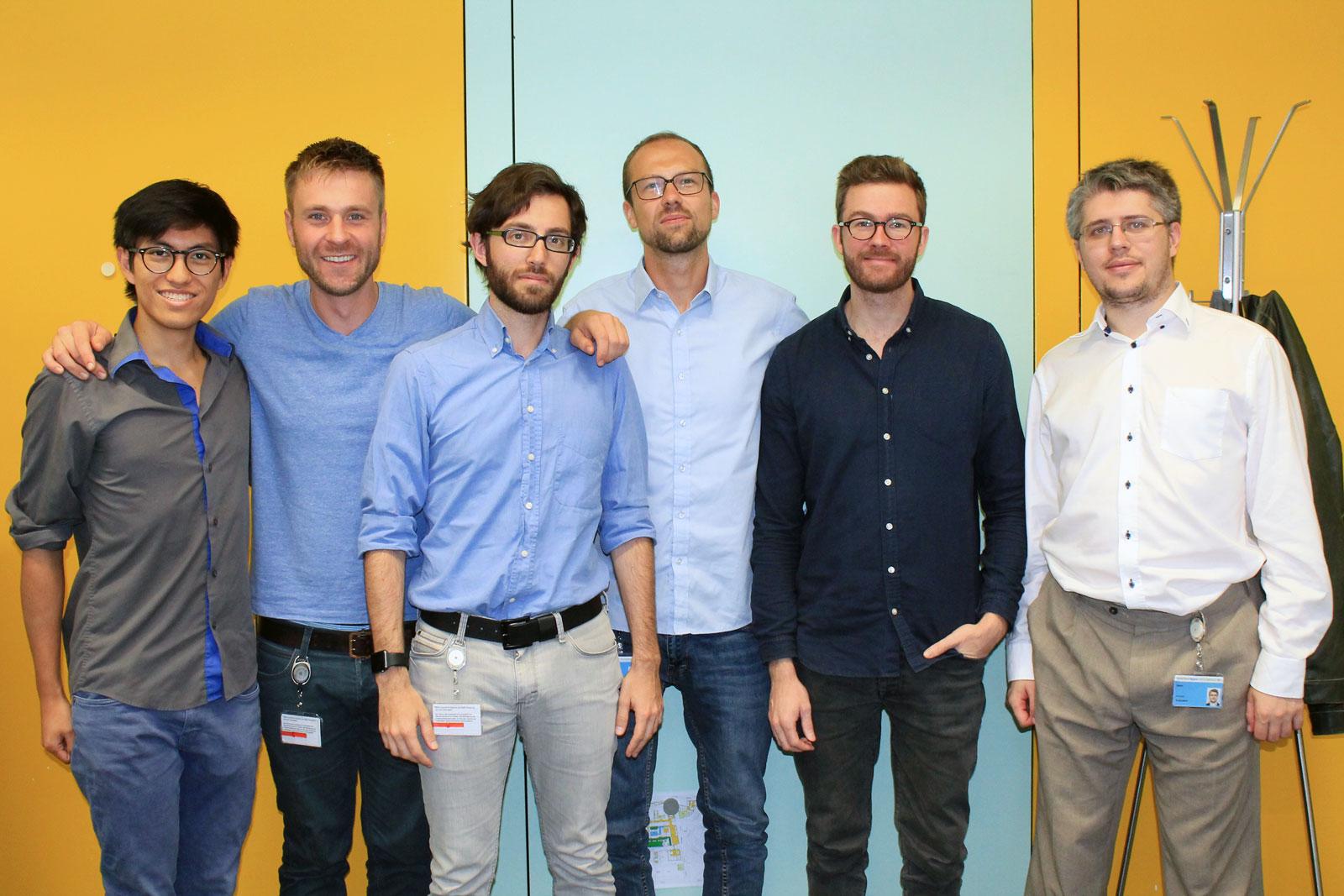 Das Team von xbird um Jonas Harder (zweiter von links) und Sebastian Sujka (mitte).