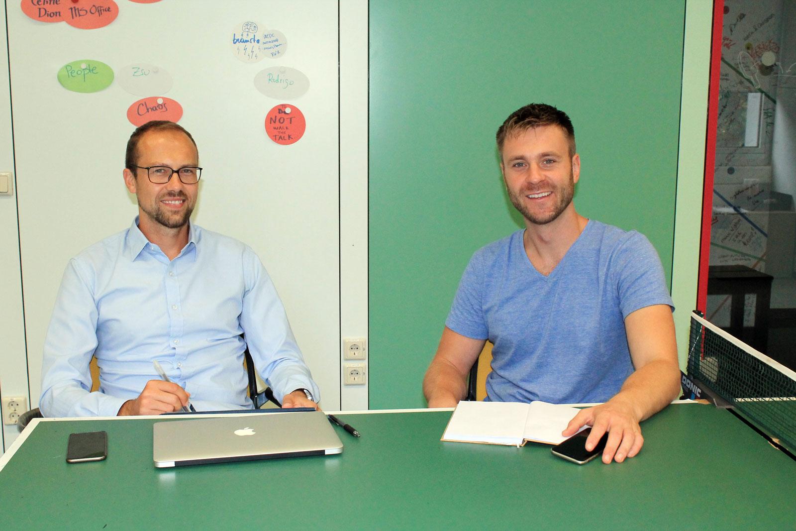 Die beiden Gründer: Sebastian Sujka (li.) und Jonas Harder.