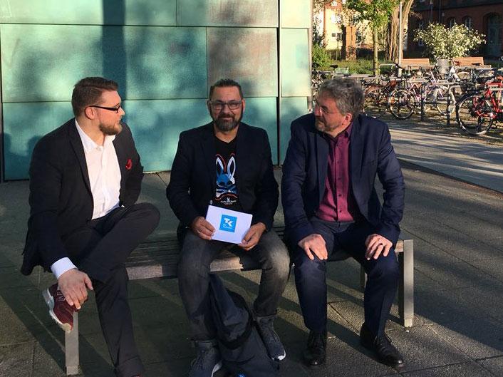 Hans Jagnow, Bruno Kollhorst und Prof. Roland Rosenstock (v.l.n.r.)